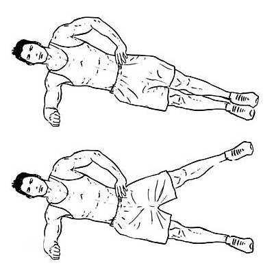 leg raise plank